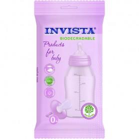 Set 15 Servetele umede bebelusi Biodegradabile Roz Invista IV3206 Initiala