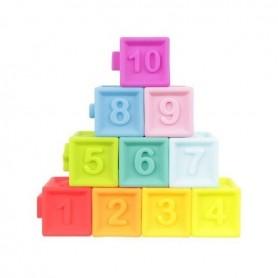 Set 10 cuburi moi bebelusi Iso Trade MY17517 Initiala