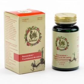 Resveratrol + Fructobarat de Calciu, 70 capsule Leacul