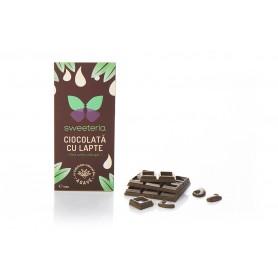 Ciocolata cu Lapte 40% cu Indulcitor din Agave, 100g Sweeteria