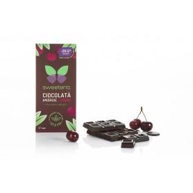 Ciocolata Amaruie 70% cu Visine, 100g Sweeteria