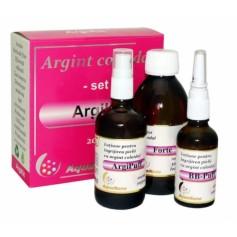 Set Argint Coloidal ArgiKit, Forte 100ml+Argipuff 100ml+BB-puff 50ML Aghoras