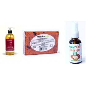 Sapun Lichid cu Ulei de Arbore de Ceai + Sapun Natural cu Glicerina + Ulei de Argan Presat la Rece, 30ML