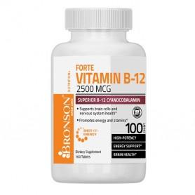 Vitamina B12, 2500 Mcg, 100 tablete, Bronson