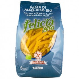 Penne organice din malai si orez, 500g Felicia Bio