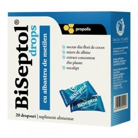 Biseptol Dropsuri cu Propolis si Albastru de Metilen, 20 bucati Dacia Plant