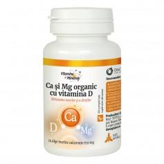 Calciu Magneziu Organic cu Vitamina D - 60 CPS