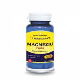 Magneziu Forte, 60 capsule Herbagetica