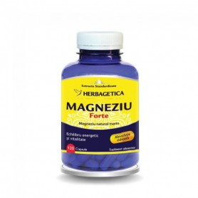 Magneziu Forte, 120 capsule Herbagetica