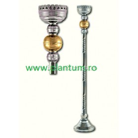Sfesnic Imparatesc cu baza - 125 cm - aurit si argintat