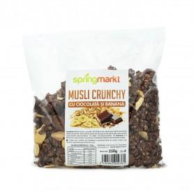 Musli Crunchy cu Ciocolata si Banane, 350g Springmarkt