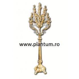 Sfesnic Imparatesc din Bronz, 19 becuri - aurit si argintat