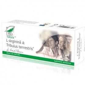 L- Arginina si Tribulus Terrestris, 30 capsule Pro Natura