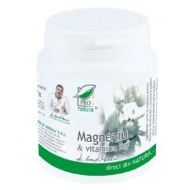 Magneziu si Vitamina B6, 150 capsule Pro Natura