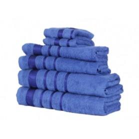 Prosoape Bumbac, Set 6 bucati, Culoare Albastru Inchis