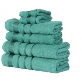 Prosoape Bumbac, Set 6 bucati, Culoare Verde Inchis