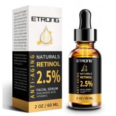 Retinol Ser 2,5% cu Acid Hialuronic si Vitamina E, 60ML