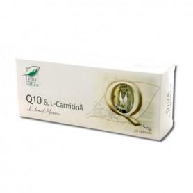 Coenzima Q10 si L-Carnitina, 30 capsule Pro Natura