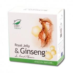 Royal Jelly si Ginseng, 30 capsule Pro Natura
