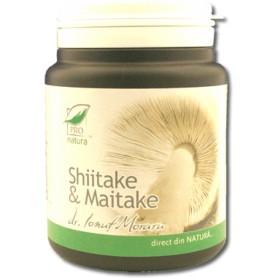 Shiitake si Maitake, 60 capsule Pro Natura
