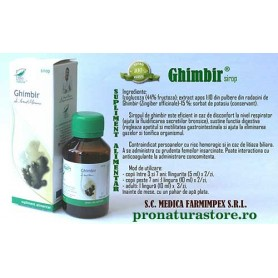 Sirop de Ghimbir, 100ML Pro Natura