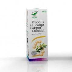 Spray cu Propolis, Eucalipt si Argint Coloidal, 50ML Pro Natura