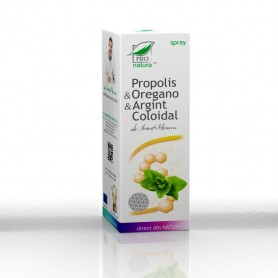 Spray cu Propolis, Oregano si Argint Coloidal, 50ML Pro Natura