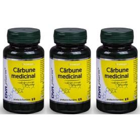 Carbune Medicinal Capsule Pachet 3 bucati, DVR Pharm