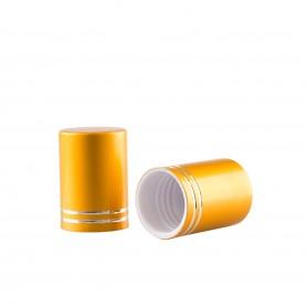Capac Gold mat pentru recipiente Roll-On mini de 10 ml