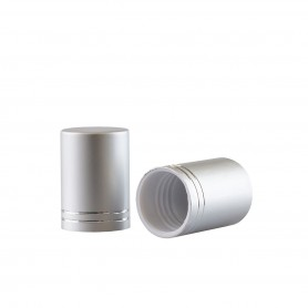 Capac Silver mat pentru recipiente Roll-On mini de 10 ml
