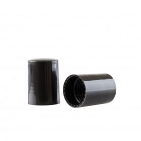 Capac negru pentru recipiente Roll-On mini