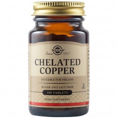 Chelated Copper tabs 100s SOLGAR