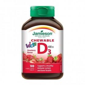 Vitamina D3 pentru Copii Jamieson 400 UI - 100 comprimate