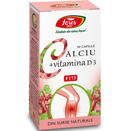 Calciu + Vitamina D3 30 capsule