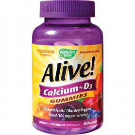 Alive Calciu cu D3, 60 de jeleuri Nature's Way