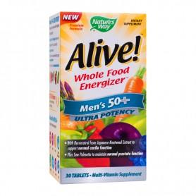 Alive Vitamine pentru Barbati, Men's 50+ Ultra, 30 tablete