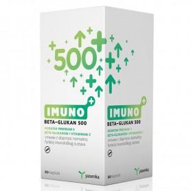 Betaglucan 500mg cu Vitamina C, 60 cps Imuno