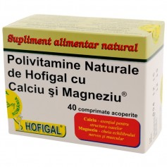 POLIVITAMINE HOFIGAL CU CALCIU SI MAGNEZIU 40CPS