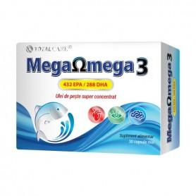 Mega Omega 3 Ulei de Peste, 30 capsule moi