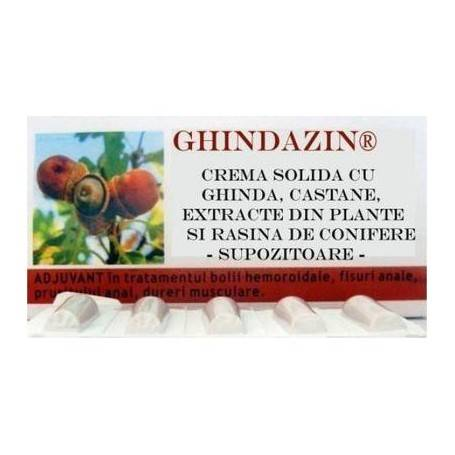 GHINDAZIN SUPOZITOARE 10 BUC