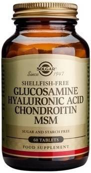 glucosamine hyaluronic acid chondroitin msm 60 tablete solgar