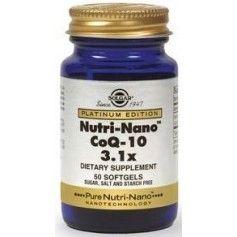 NUTRI-NANO CoQ-10 3.1x softgels 50s SOLGAR