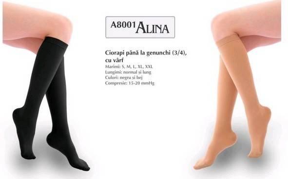ciorapi sub genunchi lungi negru l al 8001