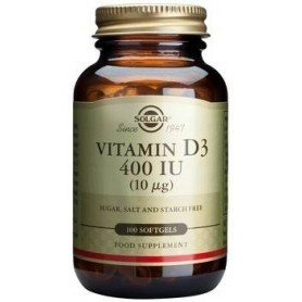 Vitamin D3 400 IU softgels 100s