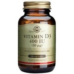 Vitamin D3 400 IU softgels 100s SOLGAR