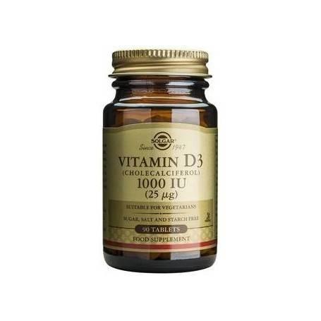 Vitamin D3 1000 IU tabs 90s SOLGAR