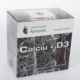 CALCIU 1200MG D3 20PLICURI