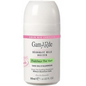Deodorant natural roll-on cu ceai verde Gamarde