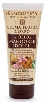 crema pentru corp cu ulei de migdale dulci erboristica 200 ml