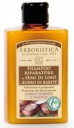 Sampon fara SLES, cu seminte de in si unt de shea Erboristica 300 ml